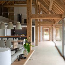 House Design, Countryside House Design With Long Hallway: Barn House Converted To Contemporary Countryside House Design