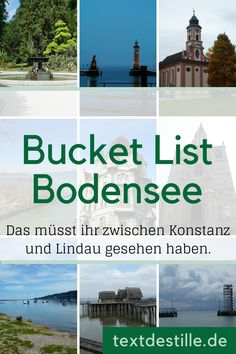 Mehr als 100 tolle Tipps für den Bodensee You must have seen these sights on Lake Constance from Constance to Lindau. Cool Places To Visit, Places To Go, Beautiful Places In Spain, Diving Lessons, First Class Tickets, Reisen In Europa, Paris Photography, Grand Tour, Travel Alone