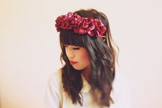 burgundy wine rose crown maroon floral statement by kisforkani