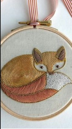 Embroidery fox