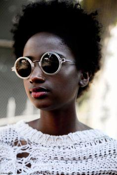 Portrait by Mambu Bayoh. #Sunglusses #WhiteandBlack #AfricanFashion #AfricanStyle #Beauty #Fashion #Style @ethicalfashion1