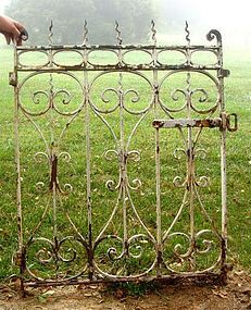 Rustic iron gate