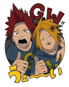 Boku no Hero Academia: Kirishima and Kaminari