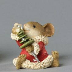 Heart of Christmas Mouse with Button Tree
