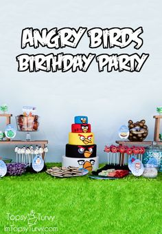 Ashlee Marie: Angry Birds Birthday Party