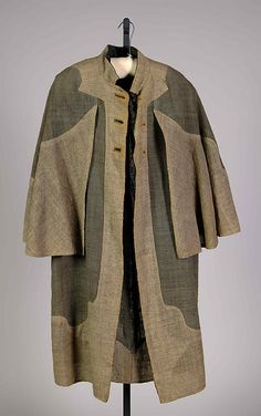 Two-tone wool coat, by Marguerite Zorach, American, ca. 1940.