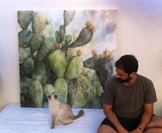 Acuarela sobre tela / Watercolor 120 x 120 cm Ignacio Muñoz Cano ( Murcia )