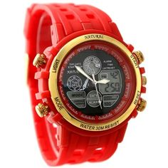 AW355C Chronograph Date BackLight Water Resist Ladies Women Analog Digital Watch