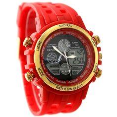 AW355C Chronograph Date BackLight Water Resist Ladies Women Analog Digital Watch