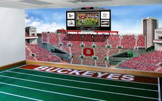 Great My Buckeye Room   Ohio Stadium Wall Mural Wallpaper  Ohio State Buckeyes    This Would Part 7