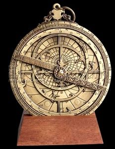 Astrolabe  This is the instrument that was sent to Jaime by LJG and in turn used by Roger when he went off to survey the land.  Beautiful!!