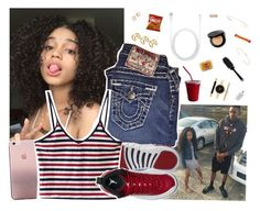 """Aug 16 "" by frezhstyle ❤ liked on Polyvore featuring True Religion, NIKE, ASOS, Melissa Joy Manning, Feathered Soul, Style & Co., Kate Spade, Bobbi Brown Cosmetics, GHD and Grace Lee Designs"