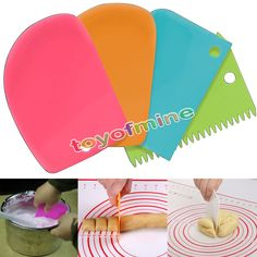 3Pcs Pastry Butter Dough Cake Cookie Scraper Decorating Cutter DIY Tools MT #Unbranded