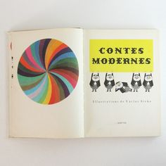 Contes Modernes - Vintage 1960s French Book of Modern Czech Tales for Children - Illustrated Hardcover.
