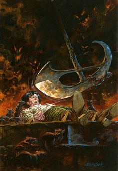 "Bernie Wrightson - Unpublished ""Pit and The Pendulum"" Edgar Allan Poe Portfolio Painting (1976)."