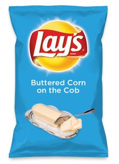Wouldn't Buttered Corn on the Cob be yummy as a chip? Lay's Do Us A Flavor is back, and the search is on for the yummiest flavor idea. Create a flavor, choose a chip and you could win $1 million! https://www.dousaflavor.com See Rules.