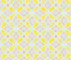 Mod Linen Petals Multi fabric by katrinazerilli on Spoonflower - custom fabric