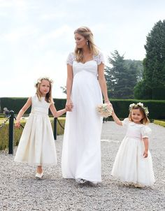 575966c20ad Ivory Silk  amp  Lace Maternity Wedding Gown