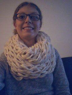 DIY arm knit scarf