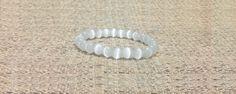 8mm White Cat's Eye Gemstones Handmade Tibetan Bracelet, Healing Chakra Protection Meditation Yoga Zodiac Capricorn Taurus Aries Bracelet de ArtGemStones en Etsy