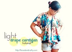 Light drape cardigan