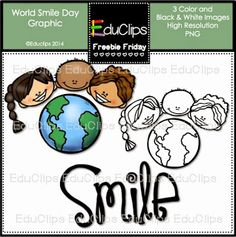 Free World Smile Day Clipart Set