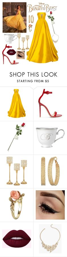 """Beauty and the Beast"" by kitty-cat130 ❤ liked on Polyvore featuring Disney, Alex Perry, Gianvito Rossi, Hanky Panky, Lenox, Godinger, GUESS, Vintage and Talbots"
