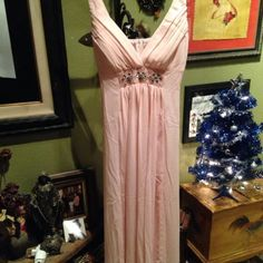 Bridesmaid Dress. Used once. Maxi. Back zip up. Detailed beads. Ever Pretty Dresses