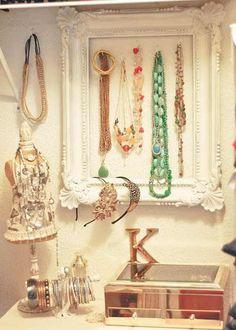 Frame jewelry display.