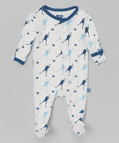 This Natural & Twilight Frog Footie - Infant & Toddler is perfect! #zulilyfinds