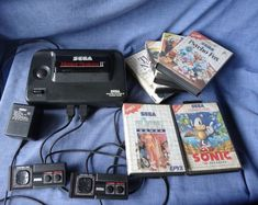Sega Master System 2 Power Base Console Controllers Power Supply, 6 Games Works