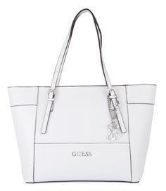 De Delaney Small Classic Tote Bag van Guess is een fijne handtas. De tas is uitgevoerd in hoogwaardig PU Saffiano leder.