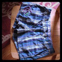 Old navy shorts Super comfy plaid shorts. Blue, real, yellow. Old Navy Shorts