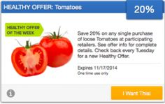 SavingStar Fresh Produce Coupon – Save 20% on Tomatoes
