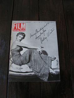 Vintage 1949 Film Illustrated Monthly Movie Magazine  Shelley Winters Diana Dors Christmas by VintageBlackCatz on Etsy