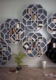 Amazing bookshelves design ideas for your living room 42