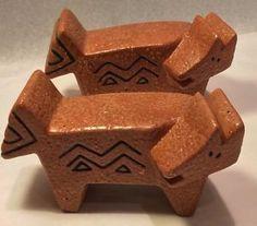 Laurel Burch Aztec Cat Salt & Pepper Shaker Set Ganz Vintage Designer Signed  | eBay