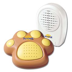 Pet Chime - Wireless Electronic Doorbell and Notification Device. [Or, just use a couple jingle bells on a ribbon!]