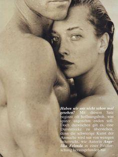 Tatjana Patitz & Fred Harding by Herb Ritts, 1987