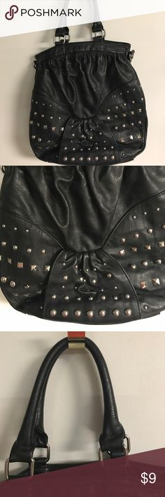 Selling this Black studded pocketbook. on Poshmark! My username is: aposhmommy. #shopmycloset #poshmark #fashion #shopping #style #forsale #Elle Lafidale #Handbags