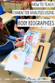 How to Teach Character Analysis Using Body Biographies - English Language Arts: Ideas & Resources - How to Teach Character Analysis Using Body Biographies. Have you been searching for a really fun, s - Middle School Ela, Middle School English, Middle School Classroom, English Classroom, High School Activities, Teaching Activities, Language Activities, Educational Activities, Teaching Literature