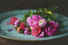 Little Red House: Mosaic Monday: Pink Ranunculus