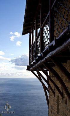 Monastery of Simonopetra, Mount Athos, Macedonia, Greece The Holy Mountain, Orthodox Christianity, Sydney Harbour Bridge, Byzantine, Photography Photos, Macedonia Greece, Explore, Places, Traveling