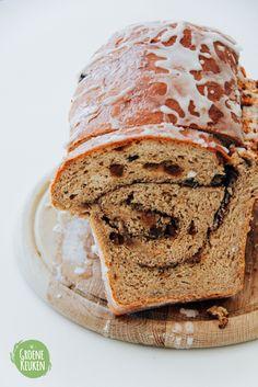 Kaneel-Rozijnenbrood | De Groene Keuken #veganmofo #vegan #vgnmf15