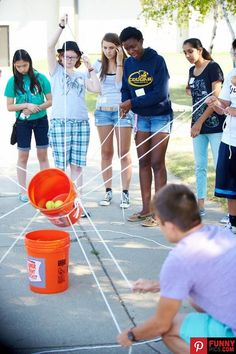 This fun game doubles as a great teamwork activity                                                                                                                                                                                 More