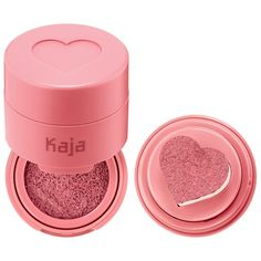 Shop Kaja's Cheeky Stamp Blendable Blush at Sephora. A cushion blush formula, with a heart-shaped applicator, for a sheer-to-buildable flush of color. Blushes, Beauty Blender, Lime Crime, Sephora, Soft Corals, Blush Makeup, K Beauty, Beauty Book, Beauty News