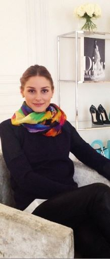 Who made  Olivia Palermo's water color scarf?