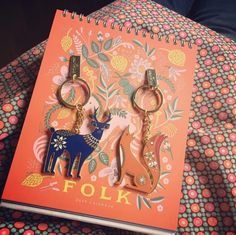 Folklore Deer and Fox Keyrings by Wild & Wolf