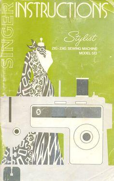 Singer Zig-Zag Stylist 513 Original Manual 1972 Sewing Machine Instructions $12.50 ETSY