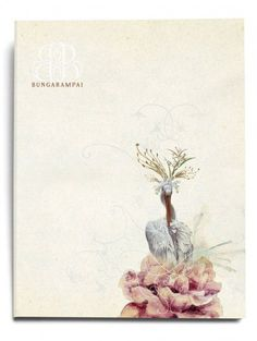 Menu book for Bunga Rampai, by Leboye Design, Indonesia